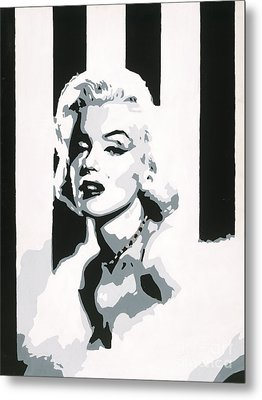 Black And White Marilyn Metal Print by Ashley Price