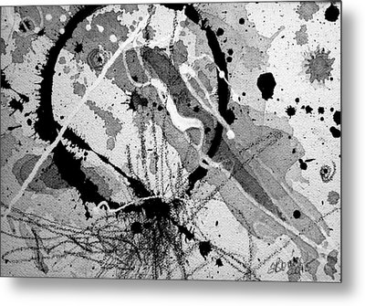 Black And White One Metal Print by Tracy Bonin