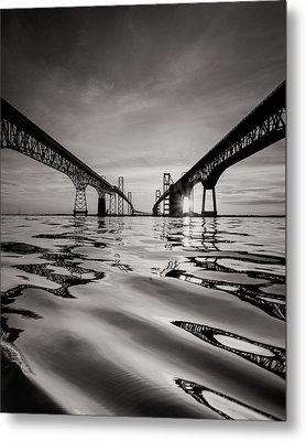 Metal Print featuring the photograph Black And White Reflections by Jennifer Casey