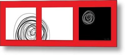 Black And White Twirl  Metal Print by Nomi Elboim