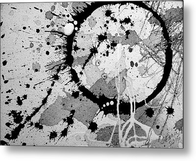 Black And White Two Metal Print by Tracy Bonin
