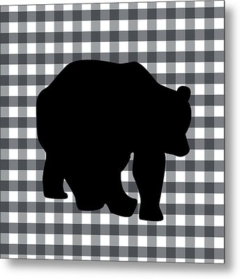 Black Bear Metal Print by Linda Woods