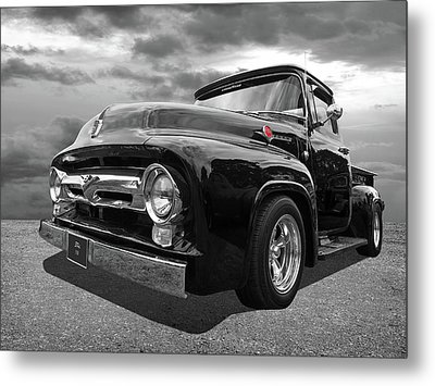Black Beauty - 1956 Ford F100 Metal Print