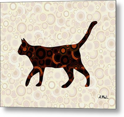 Black Cat - Animal Art Metal Print by Anastasiya Malakhova