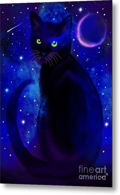 Metal Print featuring the painting Black Cat Blues  by Nick Gustafson