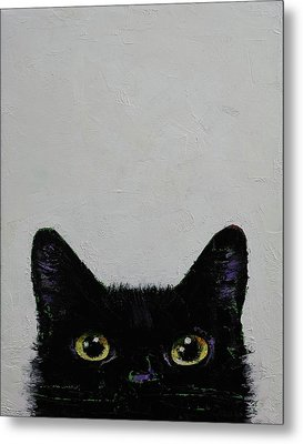 Black Cat Metal Print by Michael Creese