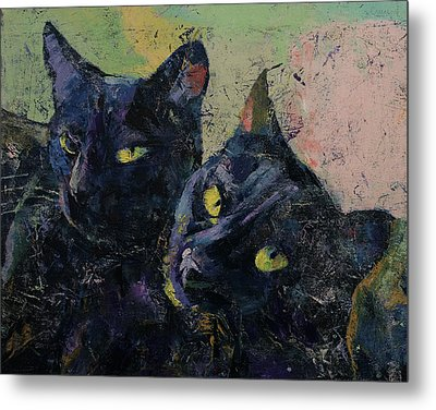 Black Cats Metal Print