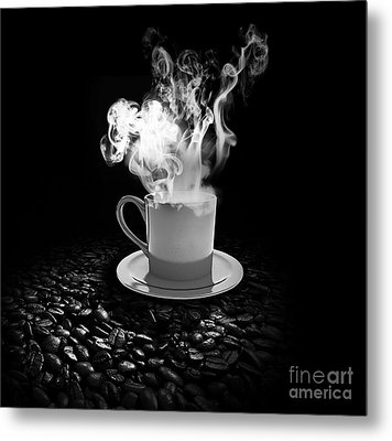 Black Coffee Metal Print by Stefano Senise