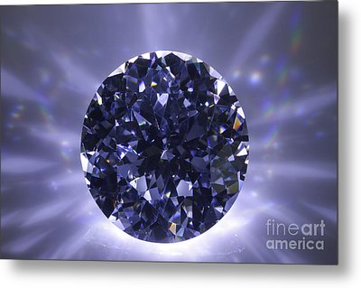 Black Diamond Shine Aura. Metal Print by Atiketta Sangasaeng