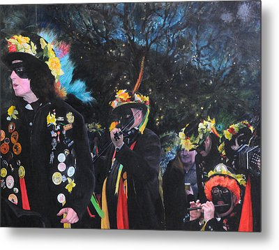 Black Face Mummers Metal Print