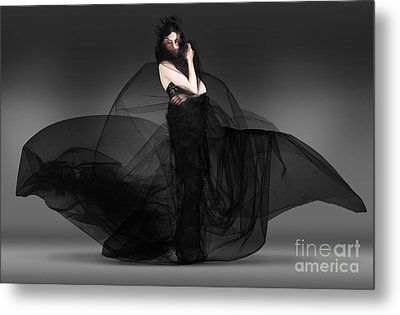 Black Fashion The Dark Movement In Motion Metal Print by Jorgo Photography - Wall Art Gallery