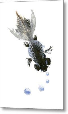 Black Fish Metal Print by Suren Nersisyan