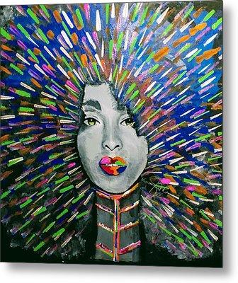Black Girl Magic Metal Print