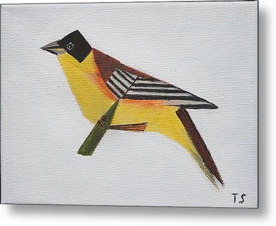 Black-headed Bunting Metal Print by Tamara Savchenko