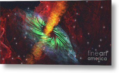 Black Hole In Cosmos Metal Print