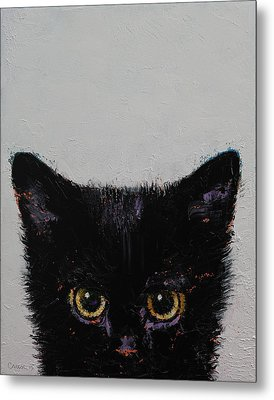 Black Kitten Metal Print by Michael Creese