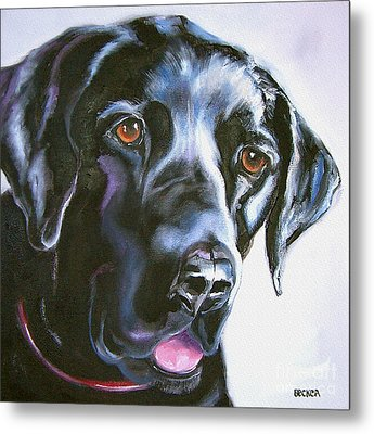 Black Lab No Ordinary Love Metal Print by Susan A Becker