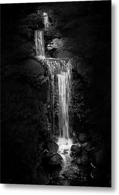 Metal Print featuring the photograph Black Magic Waterfall by Peter Thoeny