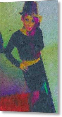 Black Magic Woman Metal Print by Mike La Muerte Giuliani