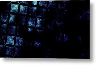 Black N Blue Burn Metal Print by Carol Crisafi