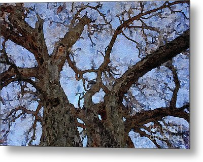 Metal Print featuring the painting Black Oaks by Mark Greenberg