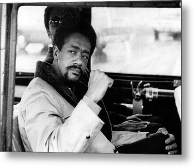 Black Panther Leader Bobby Seale Metal Print by Everett