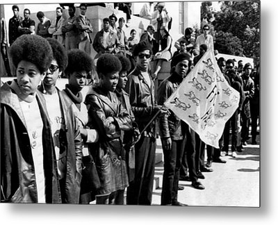 Black Panther Party Members Show Metal Print