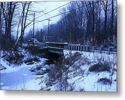 Metal Print featuring the photograph Black Rock Bridge by William Albanese Sr