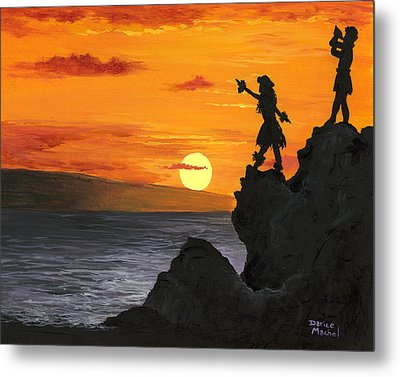 Metal Print featuring the painting Black Rock Maui by Darice Machel McGuire