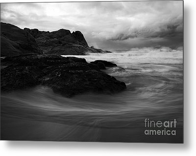 Black Rock  Swirl Metal Print by Mike  Dawson