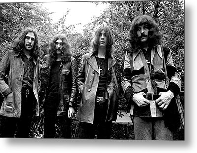 Metal Print featuring the photograph Black Sabbath 1970 #3 by Chris Walter