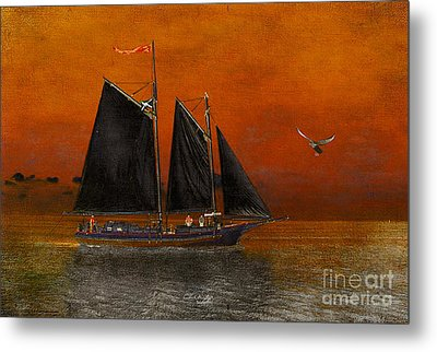 Black Sails In The Sunset Metal Print by Chris Armytage