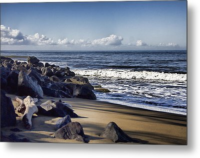 Black Sand Beach  Metal Print by Douglas Barnard