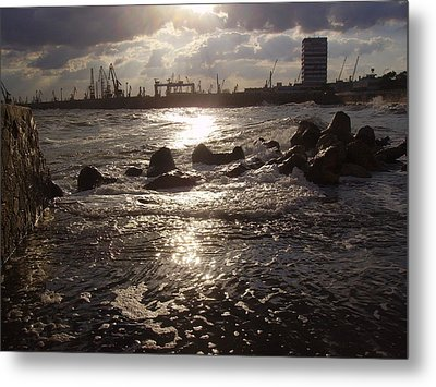 Metal Print featuring the photograph Black Sea by Evelina Popilian