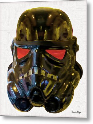 Black Stormtrooper - Da Metal Print by Leonardo Digenio