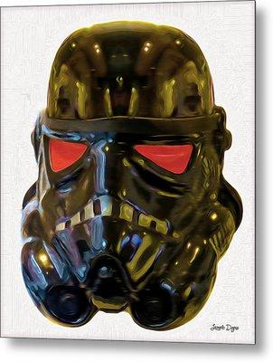 Black Stormtrooper - Pa Metal Print by Leonardo Digenio