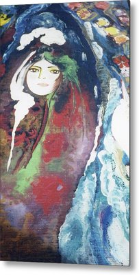 Black Table Metal Print by Sima Amid Wewetzer