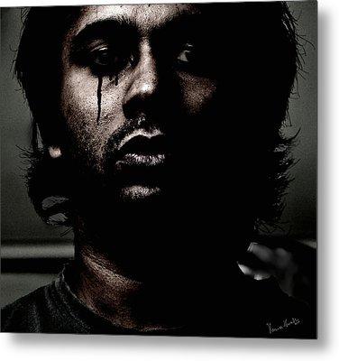 Black Tears Metal Print by Venura Herath