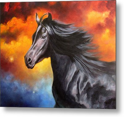 Black Thunder Metal Print