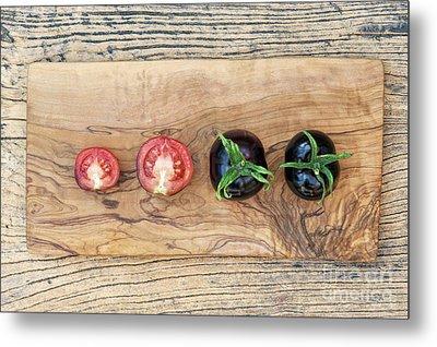 Black Tomatoes Indigo Rose Metal Print