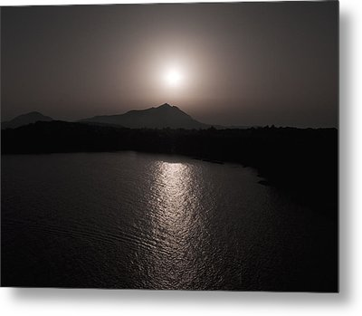 Black And White Nature Landscape Photography Art Print Metal Print by Artecco Fine Art Photography