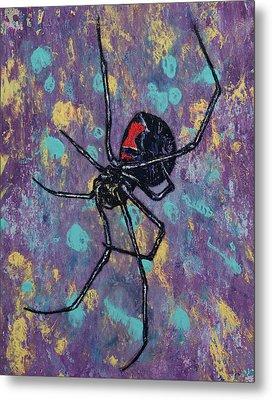 Black Widow Metal Print by Michael Creese