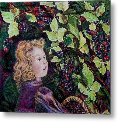 Blackberry Elf Metal Print by Susan Moore