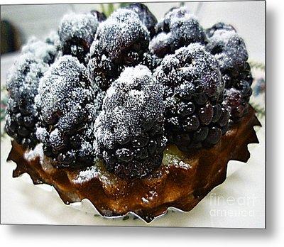 Blackberry Tart Metal Print by Renee Trenholm