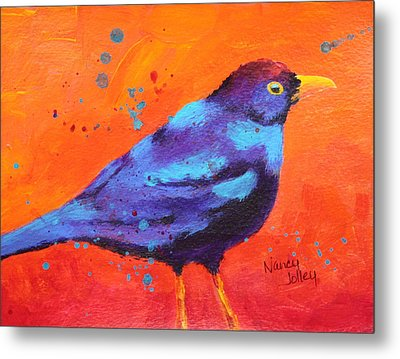 Blackbird II Metal Print by Nancy Jolley