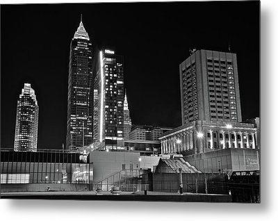 Metal Print featuring the photograph Blackest Night In Cle by Frozen in Time Fine Art Photography