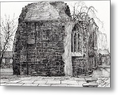 Blackfriars Chapel St Andrews Metal Print by Vincent Alexander Booth