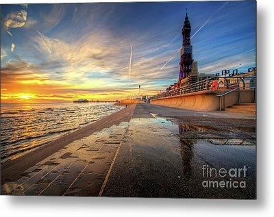 Blackpool Sunset Metal Print by Yhun Suarez