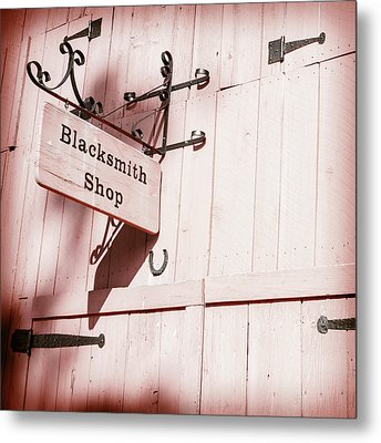 Metal Print featuring the photograph Blacksmith Shop by Alexey Stiop