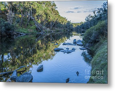 Blackwood River Rocks, Bridgetown, Western Australia Metal Print